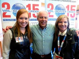 Vail Valley Foundation Senior Marketing and Public Relations Manager Kate Peters, Vice President of Communications John Dakin and President Ceil Folz are hosting events in Soelden to share information about Vail/Beaver Creek 2015.