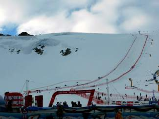 The Rettenbach Glacier World Cup course Saturday morning in Soelden, Austria.
