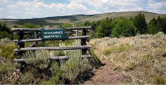 The Sunnyside Road, which runs between Eagle and Routt counties, is the burial site of W.H. Hanner.