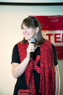 Kat Haber is the driving force behind bringing TED to the Vail Valley. The 'X' indicates that the event is locally organized. The 2013 event will combine live speakers with live video stream from the San Francisco TEDWomen event occurring at the same time.