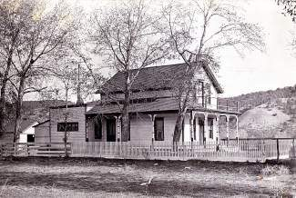 Andrew Christensen's house still stands today in west Eagle, across U.S. Highway 6 off Brooks Lane near the Fishing for Fun Bridge. Christensen was a major cattle producer in the area. His house is pictured here in the 1930s.