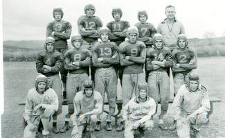The Eagle County High School football team lines up for the 1950 yearbook photo.