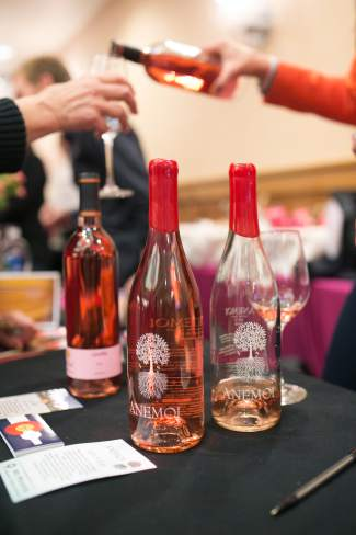 Bottles of Begonia Sangria chill on a bed of snow during the Mountain Top Tasting in Vail on Friday, part of the annual Taste of Vail culinary festival.