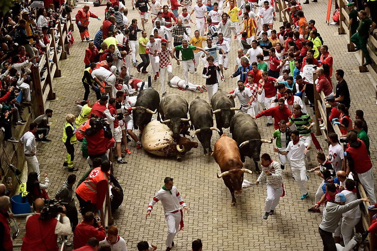 Running With The Bulls Five Runs In Pamplona Spain And