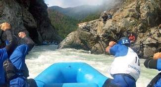 Team Behind the Eight Ball, made up of Eagle and Summit county paddlers, head down the Salmon River in California on their way to a national rafting title in early May.