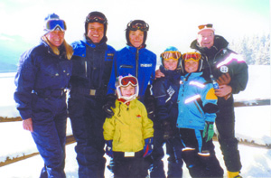 Special to the Daily/The Seibert familySkiing was a way of life for Vail's founder, Peter W. Seibert, far right, as well as his family. He was father of three and grandfather to five. From top left: Teri and Pete Jr., Lizzie, 10, Petey, 15, and Anna and Tony, both 12.