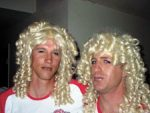 This is Joel and Ian. It is not Diane and Elaine, the Coors Light Twins, who have obvious attributes that Joel and Ian do not. Still, these are guys who have to be EXTREMELY secure in their masculinity to dress like this.