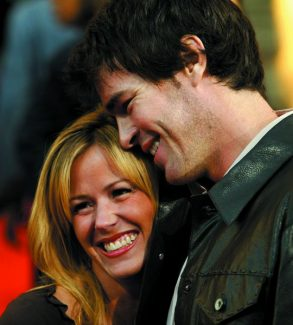 """**FILE**Trista  and Ryan Sutter arrive at the l American Music Awards, Nov. 16, 2003, at the Shrine Auditorium in Los Angeles. Trista  has given birth to a son, Maxwell Alston Sutter, in Vail, Colo. The baby is the first child for the couple who famously fell in love on ABC's """"The Bachelorette"""" and were married in December 2003.  (AP Photo/Nam Y. Huh)"""