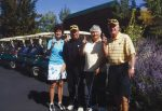 Congratulations! First-place winners of the Vail Club 50 Golf Tournament held at the Sonnenalp Golf Club. From left to right, Sarah Smith, Warren Greenspan, Doris Dewton, Pat Waneka.