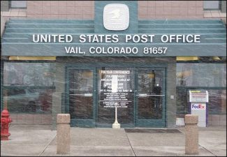 Photo courtesy of Google Images The Vail Post Office is located at 1300 N Frontage Rd W, Vail, CO 81657.