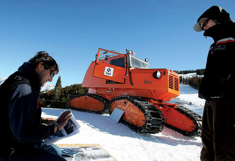 Vail groomer shows off his 1963 snowcat | VailDaily com