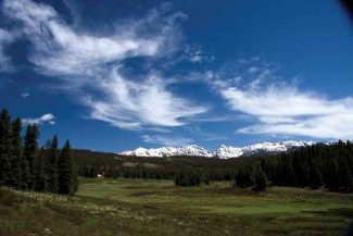 Special to the Vail Daily/Rick SpitzerInspired by the lush green landscape, Avon photographer Rick Spitzer snapped this photo of the Gore Range near Piney Lake on Saturday.
