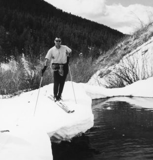 Special to the Vail DailyDick Hauserman in Vail's Back Bowls in the resort's early days. It was seeing the bowls first-hand that helped convince him to invest in the fledging resort in the late 1950s, and move to Vail before first gondola clattered uphill in 1962.