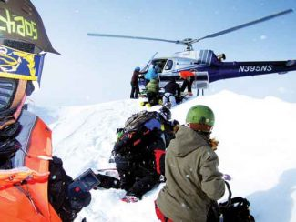 Chris Anthony/Special to the Vail DailyA helicopter lands, bringing Vail extreme skier Chris Anthony and a group of other skiers to some incredible spots in Alaska's Chugach Range
