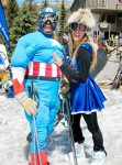 Chris and Natalie Amoroso of Edwards summoned their super powers to conquer Vail Mountain on Closing Day!