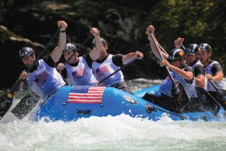 Teva U.S. National Champion Men's and Women's Whitewater Raft Teams will be in Oregon this weekend to compete in the U.S. national championships. The men have won eight straight years. Between them, the men's and women's teams have won 14 national titles. Both teams are sponsored by Timberline Tours and Teva.
