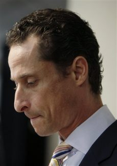 Anthony Weiner speaks to the media during a news conference in New York, Thursday, June 16, 2011.  Weiner  resigned from Congress, saying he cannot continue in office amid the intense controversy surrounding sexually explicit messages he sent online to several women. (AP Photo/Seth Wenig)