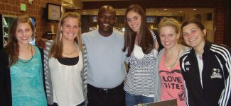Jackson Kaguri started the Nyaka Schools to help provide some of Uganda's 2.2 million AIDS orphans an education. From a presentation he made at Battle Mountain High School in April, Emma Lathrop and Sydney Idzikowski launched the Friends of Nyaka and raised enough money to put five girls in high school for a year.