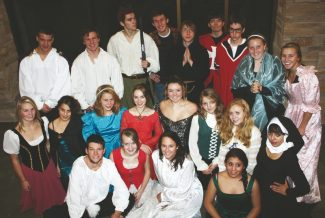 """Special to the DailyBattle Mountain High School students present a """"Madrigal Dinner Theater"""" at the school Friday."""