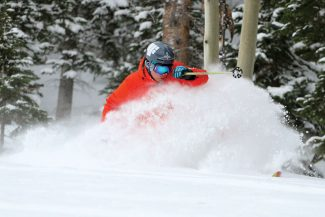 Cody Downard | Beaver Creek ResortPalmer Hoyt gets first tracks on Harrier trail Thursday at Beaver Creek, which reported 5 inches of fresh show.