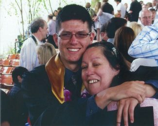 Special to the DailyPatrick Fevala, 20, shown here with his mother, Rachel, was acquitted Wednesday of assaulting sheriff's deputies while he was in jail.