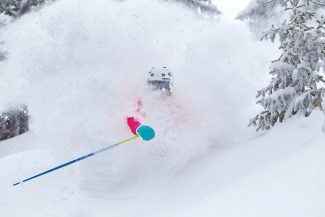 Jack Affleck, Vail Resorts  Special to the DailyAshley Magneson skis in the Northwoods area of Vail Mountain on Thursday. Vail reported 12 inches of snow early Thursday, but later revised that number to 2 inches.