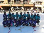 A local little girls' hockey team, started by coach Matt Dyroff, played an exhibition game on the ice at the Plaza at Solaris in December and is returning to the ice today from 4 to 5:30 p.m. for another, slightly longer, game. With only one season under its belt, this group now has grown far beyond Coach Dyroff's expectations. All are invited to come on over to the Solaris Plaza to witness these mini-mights in all their skill and excitement during their exhibition game. They are quite a sight to see and are truly the most adorable group Solaris Plaza has ever hosted. Solaris Plaza and Ice Rink is located at 141 E. Meadow Drive in Vail Village. The Solaris Ice Rink is Vail Village's only ice skating rink and is open to the public daily during the winter season, weather permitting.