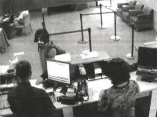 Special to the DailyJust before 4 p.m. on Saturday, a man entered the Wells Fargo Bank in Carbondale and threatened five employees and one customer with a handgun. He robbed the bank and then fled in a vehicle that was stolen from one of the bank's employees.