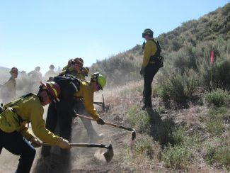Special to the DailyCrews from the Eagle River Fire Protection District partnered with the town of Avon about a week ago to give firefighters a chance to train with existing local fuels. Eagle County is under a Red Flag Warning Friday and Saturday.