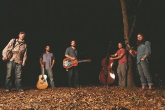 Special to the DailyGreensky Bluegrass is Anders Beck (dobro), Michael Arlen Bont (banjo), Dave Bruzza (guitar), Mike Devol (upright bass) and Paul Hoffman (mandolin).
