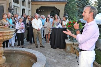 """Vail Performing Arts Academy Artistic Director Colin Meiring speaks of the importance of performing-arts education for local children at """"Let's Dance,"""" a summer soiree to benefit VPAA, on July 17 in Arrowhead, citing the organization's slogan, """" VPAA - the most important stage in a child's life."""""""