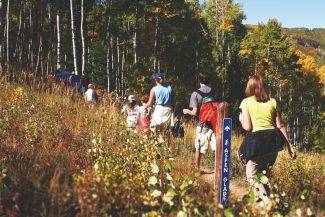 Hikers enjoy scenic views while hiking through Beaver Creek during the 2011 Hike, Wine & Dine event. The annual event is slated for Sunday.