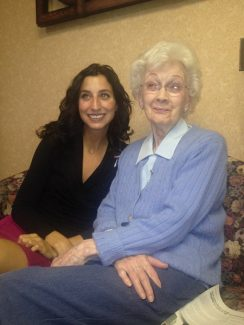Andrea Uliano, left, started her business, iheartolderpeople, which helps the local elderly, in 2011.