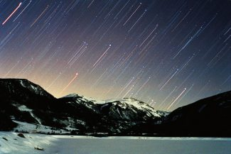 "Jimmy Westlake, an astronomy and physics professor at Colorado Mountain College's campus in Steamboat Springs, captured this image of Orion rising over the mountains east of Camp Hale, north of Leadville, on Dec. 8, 2002. Westlake will talk about ""The Poets and the Stars"" and show some of his renowned astrophotographs Wednesday at Colorado Mountain College in Edwards. Photograph by Jimmy Westlake."