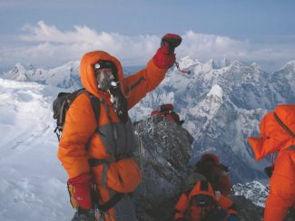 """Jon Kedrowski summitted Mount Everest earlier this year, saving several lives along the way. He and Chris Toomer will be at the Bookworm Friday in the Edwards Riverwalk for a presentation for their book, """"Sleeping the Summits."""""""