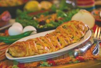 Special to the Daily/Billy DoranThis egg strudel combines eggs with mushrooms, asparagus, ham and cheese into a puff pastry.
