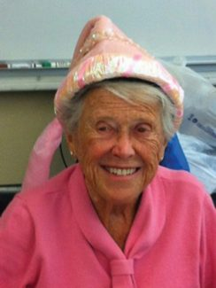 "If you see Cathie Douglas, please tell her ""Happy 92nd birthday!"""