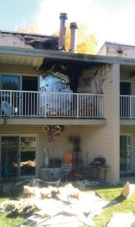 Special to the DailyIt took about 30 firefighters about 45 minutes to get the fire at the Beaver Bench Condos on West Beaver Creek Boulevard in Avon under control Tuesday night.