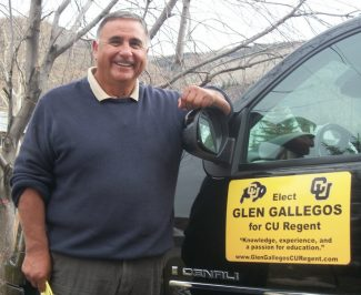 Valley native Glen Gallegos has put 30,000 miles on his truck campaigning to become the Universtiy of Colorado regent from the 3rd Congressional District.