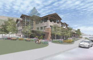 A rendering shows the town of Vail's portion of the municipal site redevelopment. The town has not announced whether it will move forward with its part of the project now that its partnership with medical partners has fallen apart.