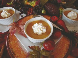 Special to the DailyThese pumpkin pots de creme are flavored with maple, cinnamon, nutmeg and ginger.