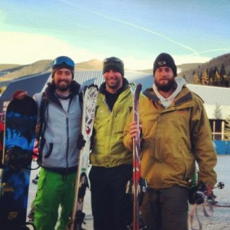 Ross, Roger and Dave bravely tackle Born Free at Vail. Welcome to Colorado!