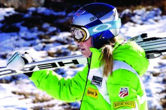 Jon Maletz | Special to the DailyReigning World Cup overall champion Lindsey Vonn heads for Lift 1A on Friday