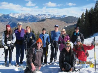 A group of adventurers takes a break from snowshoeing to catch some gorgeous views of the Gore Range. Join Vail Resorts Nordic for free morning snowshoe tours through this weekend on Vail Mountain. Start at the Golden Peak Nordic Desk at 9:30 a.m. to get outfitted. Then, we'll ride the new gondola up, hike across and ride the Eagle's Nest Gondola down, all while learning about the beauty of our natural surroundings. For more info, call 970-754-4390 or 970-754-3210.