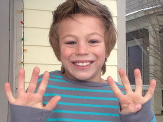 Sam Koontz is turning 9 today! Happy birthday! We love you — Mom, Dad, Owen and Duncan.