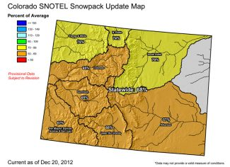 Special to the DailyThe Upper Colorado River Basin snowpack is at about 65 percent of average as of Thursday.