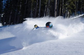 Carl Scofield   Beaver Creek Resort Matt Belleville samples deep powder on Grouse Mountain at Beaver Creek Thursday. The area opens for the season Friday following 19 inches of new snow in the past seven days.