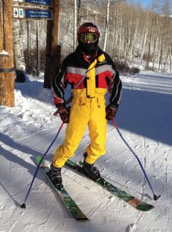 """It's 13 below zero on Jan. 3 and Avon's """"Ted"""" realizes he's a day early for retro day in Beaver Creek."""