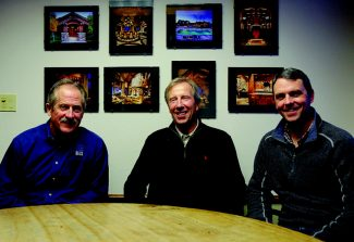 Dominique Taylor/dtaylor@vaildaily.comBeck Building Co. CEO Frank Payne, left, founder Andy Beck, center, and President Kevin O'Donnell, right, are celebrating the company's 40th anniversary this year.
