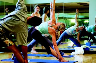 Special to the DailyAttendees at a Vail Vitality Center yoga class do the triangle pose.
